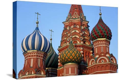 St. Basil's Cathedral in Red Square, Moscow, Russia-Kymri Wilt-Stretched Canvas Print