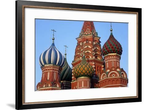 St. Basil's Cathedral in Red Square, Moscow, Russia-Kymri Wilt-Framed Art Print