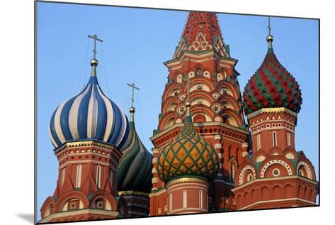 St. Basil's Cathedral in Red Square, Moscow, Russia-Kymri Wilt-Mounted Photographic Print