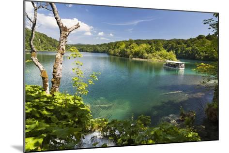 Visitors Taking a Cruise on Lake Kozjak, Plitvice Lakes, Plitvicka Jezera, Croatia-Martin Zwick-Mounted Photographic Print