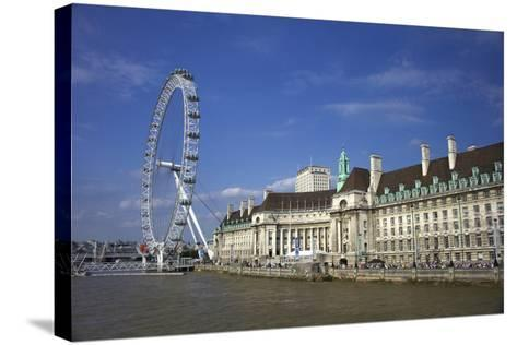 South Bank, London Eye, County Hall Along the Thames River, London, England-Marilyn Parver-Stretched Canvas Print