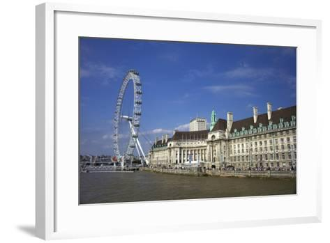 South Bank, London Eye, County Hall Along the Thames River, London, England-Marilyn Parver-Framed Art Print