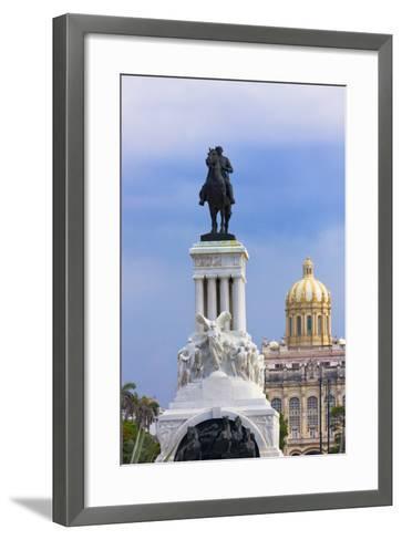 Monument to Antonio Maceo, Capitol Building, Havana, Cuba-Keren Su-Framed Art Print