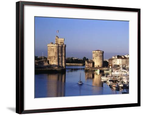 Boats, Vieux Port, Tour Saint-Nicolas, Tour De La Chaine, La Rochelle, France-David Barnes-Framed Art Print