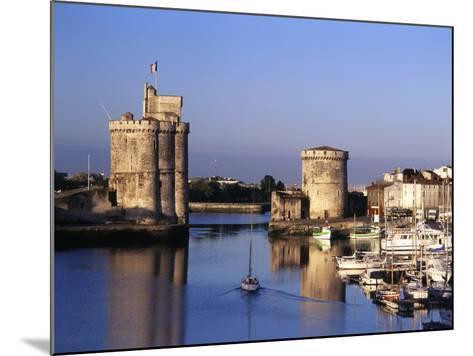 Boats, Vieux Port, Tour Saint-Nicolas, Tour De La Chaine, La Rochelle, France-David Barnes-Mounted Photographic Print