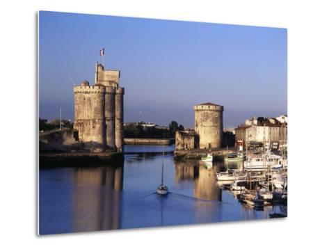 Boats, Vieux Port, Tour Saint-Nicolas, Tour De La Chaine, La Rochelle, France-David Barnes-Metal Print