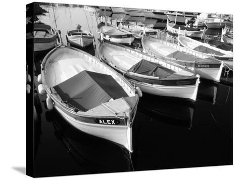 Wooden Fishing Boats, Riviera, Alpes-Maritimes, Villefranche-Sur-Mer, France-David Barnes-Stretched Canvas Print