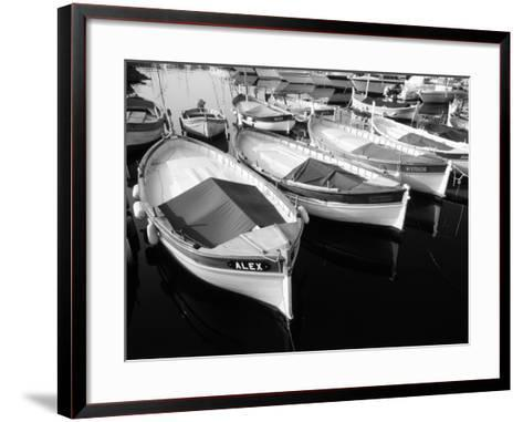 Wooden Fishing Boats, Riviera, Alpes-Maritimes, Villefranche-Sur-Mer, France-David Barnes-Framed Art Print