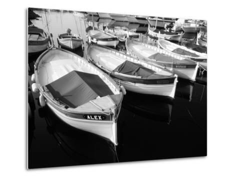 Wooden Fishing Boats, Riviera, Alpes-Maritimes, Villefranche-Sur-Mer, France-David Barnes-Metal Print