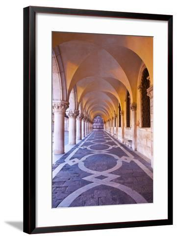 Arch at San Marcos Square at Night, Venice, Italy-Terry Eggers-Framed Art Print