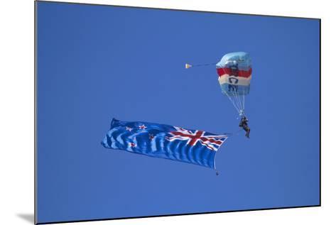 Rnzaf Sky Diving, New Zealand Flag, Warbirds over Wanaka, South Island New Zealand-David Wall-Mounted Photographic Print
