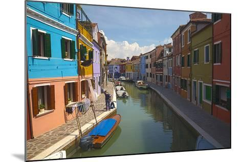 Bright Colored Homes Along the Canal, Burano, Italy-Terry Eggers-Mounted Photographic Print