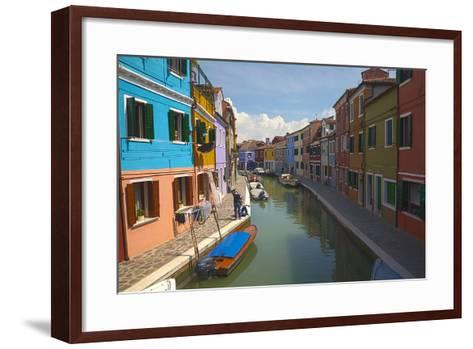 Bright Colored Homes Along the Canal, Burano, Italy-Terry Eggers-Framed Art Print