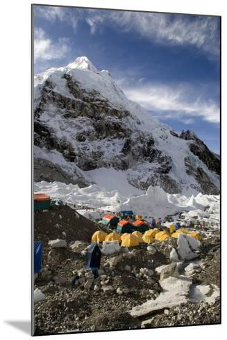 Tents of Mountaineers Scattered Along Khumbu Glacier, Base Camp, Mt Everest, Nepal-David Noyes-Mounted Photographic Print