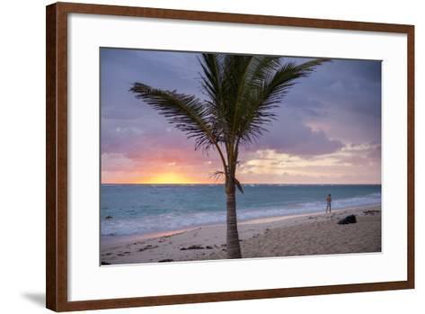 Man Jogging at Sunrise, Bavaro, Higuey, Punta Cana, Dominican Republic-Lisa S^ Engelbrecht-Framed Art Print