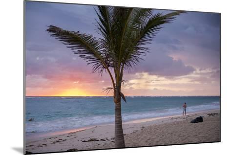 Man Jogging at Sunrise, Bavaro, Higuey, Punta Cana, Dominican Republic-Lisa S^ Engelbrecht-Mounted Photographic Print
