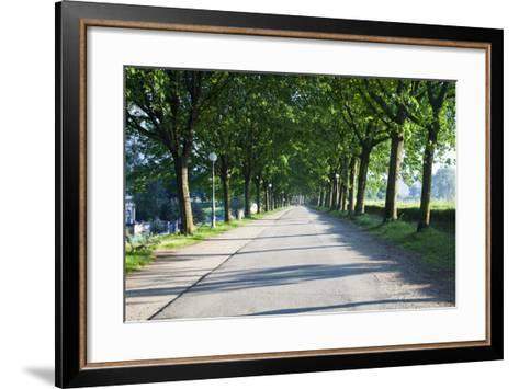 Path Along the Wall Surrounding Lucca, Italy-Terry Eggers-Framed Art Print