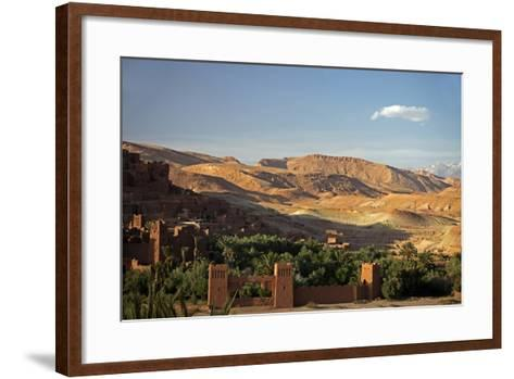 View from Ait Ben Haddou, UNESCO World Heritage Site, Ourzazate, Morocco, Africa-Kymri Wilt-Framed Art Print