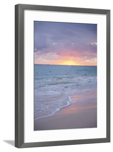 Sunrise, Bavaro Beach, Higuey, Punta Cana, Dominican Republic-Lisa S^ Engelbrecht-Framed Art Print