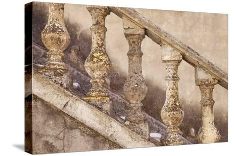 Stone Balusters, Staircase Leading to Home in Greoux-Les-Bains, Provence, France-Brian Jannsen-Stretched Canvas Print