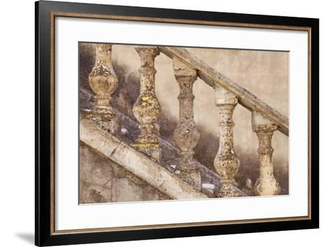 Stone Balusters, Staircase Leading to Home in Greoux-Les-Bains, Provence, France-Brian Jannsen-Framed Art Print