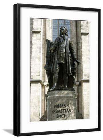 Statue of J. S. Bach on Grounds of St. Thomas Church, Leipzig, Germany-Dave Bartruff-Framed Art Print