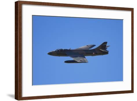 Hawker Hunter Jet Fighter, War Plane-David Wall-Framed Art Print