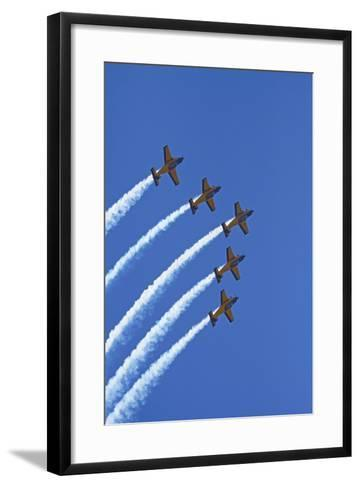 The Red Checkers Aerobatic Display Team with CT-4B Airtrainers-David Wall-Framed Art Print
