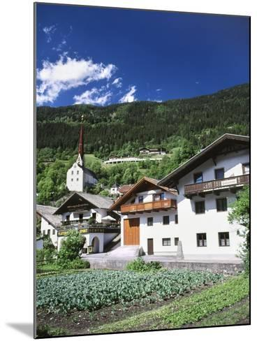 View of Town, Churches and Houses, Oetz, Tyrol, Austria-Walter Bibikow-Mounted Photographic Print