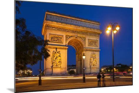 Twilight at Arch De Triomphe, Paris, France-Brian Jannsen-Mounted Photographic Print