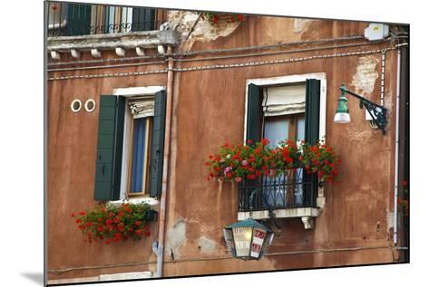 Street Scenes from Venice with Flower Boxes, Venice, Italy-Terry Eggers-Mounted Photographic Print