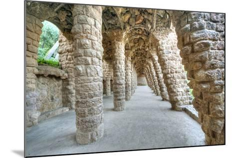 Park Guell Colonnaded Footpath, Barcelona, Spain-Rob Tilley-Mounted Photographic Print