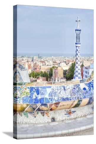 Park Guell Terrace, Barcelona, Spain-Rob Tilley-Stretched Canvas Print