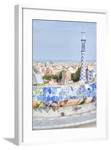 Park Guell Terrace, Barcelona, Spain-Rob Tilley-Framed Art Print