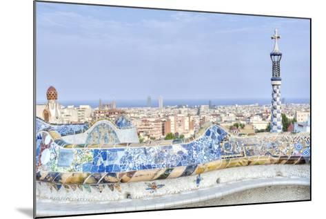 Park Guell Terrace, Barcelona, Spain-Rob Tilley-Mounted Photographic Print