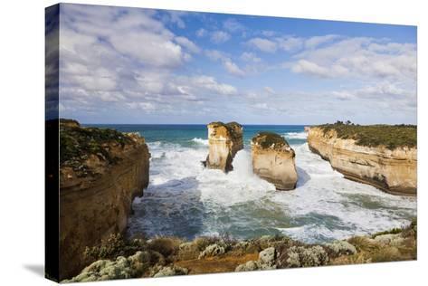 Coastline, Loch Ard Gorge, Elephant Rock, Muttonbird Is, Great Ocean Road, Australia-Martin Zwick-Stretched Canvas Print