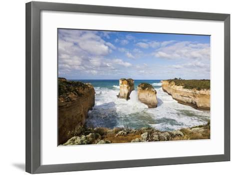 Coastline, Loch Ard Gorge, Elephant Rock, Muttonbird Is, Great Ocean Road, Australia-Martin Zwick-Framed Art Print
