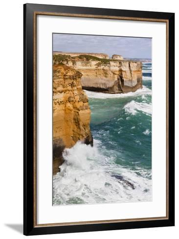 Coastline, Loch Ard Gorge, View Towards Elephant Rock, Great Ocean Road, Australia-Martin Zwick-Framed Art Print
