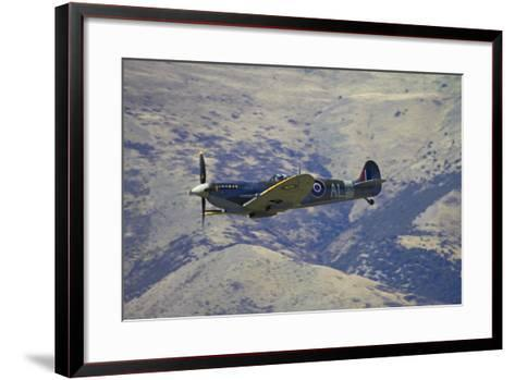 Supermarine Spitfire, British and Allied WWII War Plane, South Island, New Zealand-David Wall-Framed Art Print