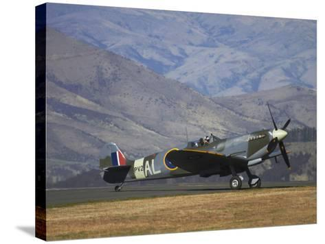 Supermarine Spitfire, British and Allied WWII War Plane, South Island, New Zealand-David Wall-Stretched Canvas Print