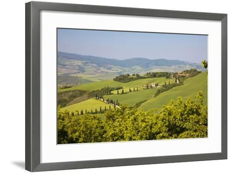 Famous Road Winding Through the Tuscan Hillside, Italy-Terry Eggers-Framed Art Print