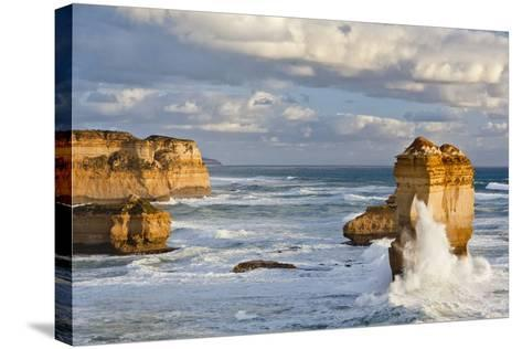 Cliffs, Loch Ard Gorge, View Towards the 12 Apostles, Great Ocean Road, Australia-Martin Zwick-Stretched Canvas Print