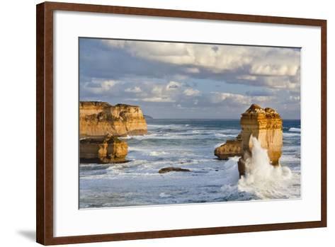 Cliffs, Loch Ard Gorge, View Towards the 12 Apostles, Great Ocean Road, Australia-Martin Zwick-Framed Art Print