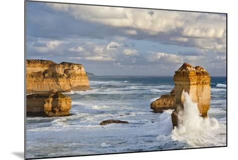 Cliffs, Loch Ard Gorge, View Towards the 12 Apostles, Great Ocean Road, Australia-Martin Zwick-Mounted Photographic Print