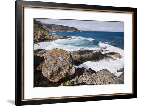 Cliff Line, Cape Du Couedic, Flinders Chase National Park, Kangaroo Island, Australia-Martin Zwick-Framed Art Print