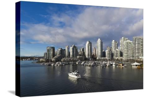 Buildings Along False Creek, Vancouver, British Columbia, Canada-Walter Bibikow-Stretched Canvas Print