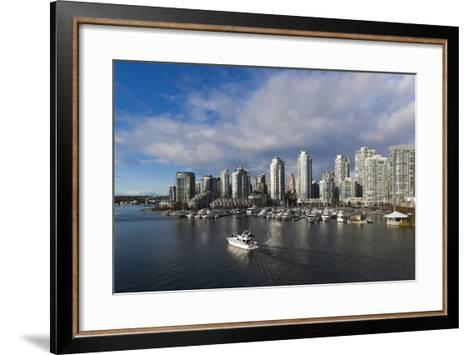 Buildings Along False Creek, Vancouver, British Columbia, Canada-Walter Bibikow-Framed Art Print