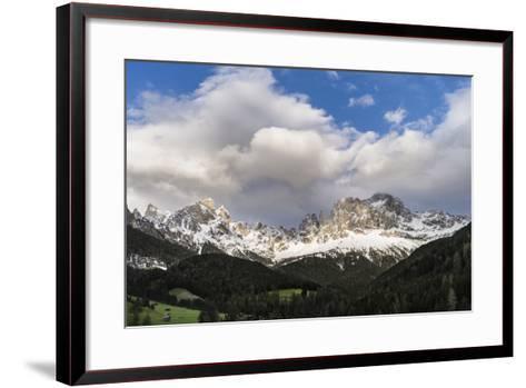 Rosengarten or Catinaccio Mountains, Schlern-Rosengarten, Dolomites, Italy-Martin Zwick-Framed Art Print