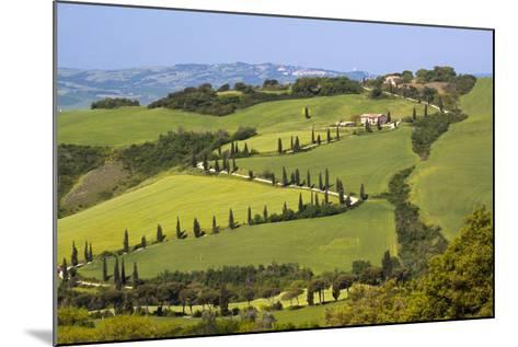 Famous Road Winding Through the Tuscan Hillside, Italy-Terry Eggers-Mounted Photographic Print