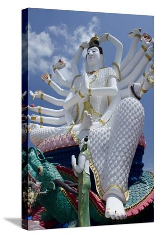 Giant Statue of Kwan Yin, Buddhist Goddess, Wat Plai Laem, Ko Samui, Thailand-Cindy Miller Hopkins-Stretched Canvas Print